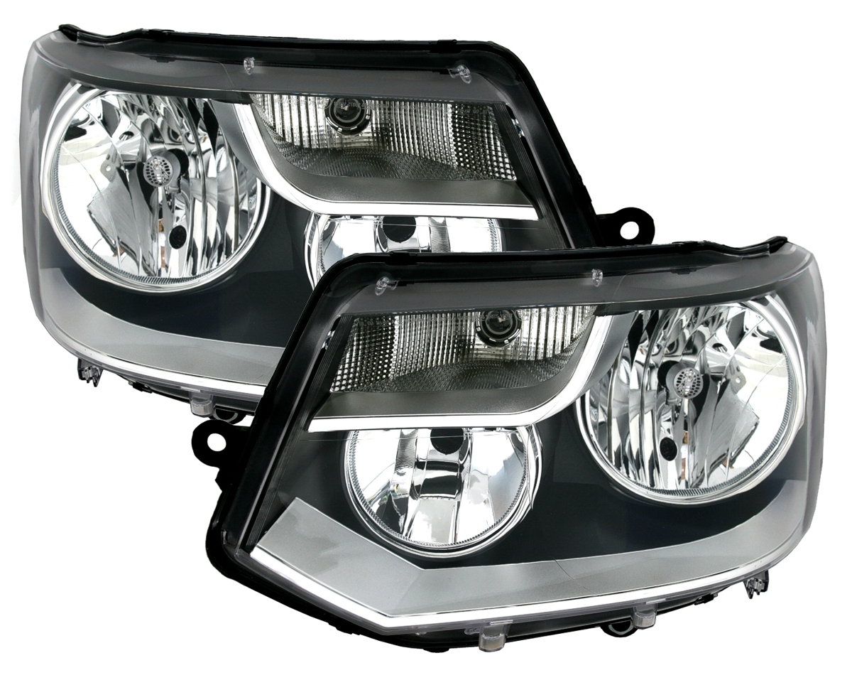 Scheinwerfer rechts T5 Bj Facelift H7+H15 inkl Lampen 09