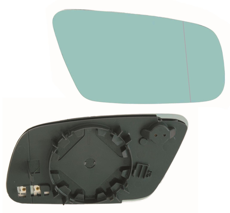 Außenspiegel Spiegelglas Ersatzglas Audi A3 A4 A6 Rechts asph Kpl beheizt Blau