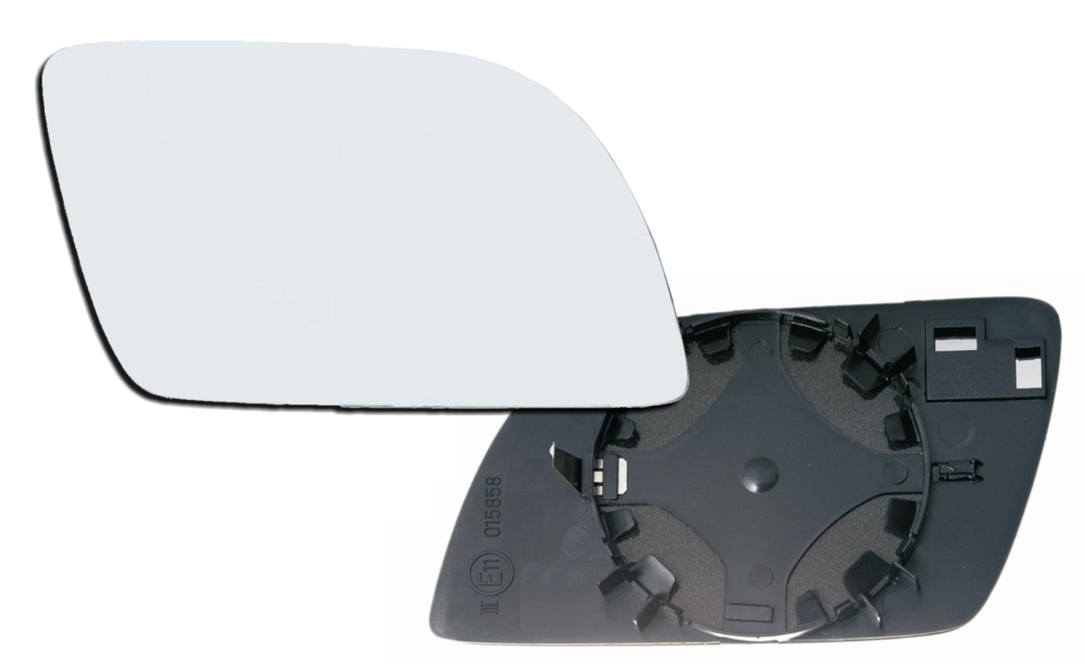 tyc spiegelglas rechts f r vw polo 9n 01 05 spiegel glas. Black Bedroom Furniture Sets. Home Design Ideas