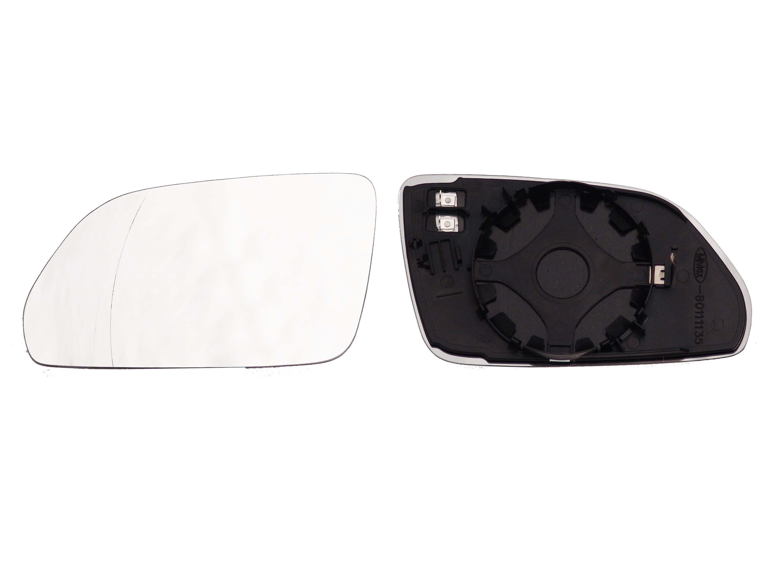 Spiegelglas Konvex Beheizbar Rechts für AUDI A3 A4 A5 A6 A8 Q3 SKODA