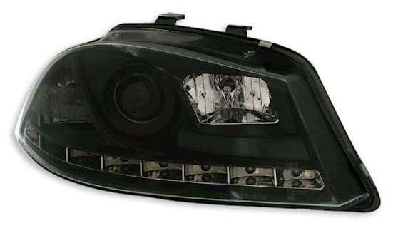 scheinwerfer set in schwarz f r seat ibiza 6l 2 02 mit. Black Bedroom Furniture Sets. Home Design Ideas