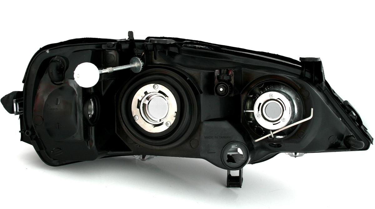 depo scheinwerfer set f r opel astra g 98 05 in schwarz. Black Bedroom Furniture Sets. Home Design Ideas