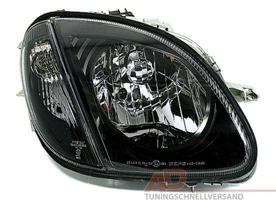 Klarglas Scheinwerfer mit Blinker schwarz für Mercedes SLK R170