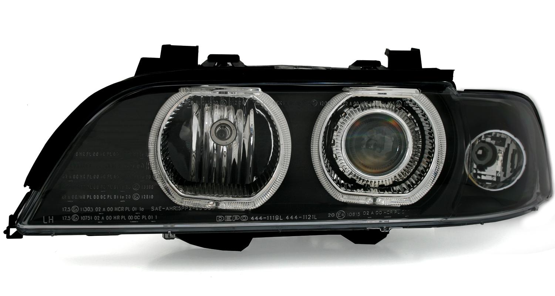 5er bmw e39 angel eyes scheinwerfer set von depo wei e. Black Bedroom Furniture Sets. Home Design Ideas