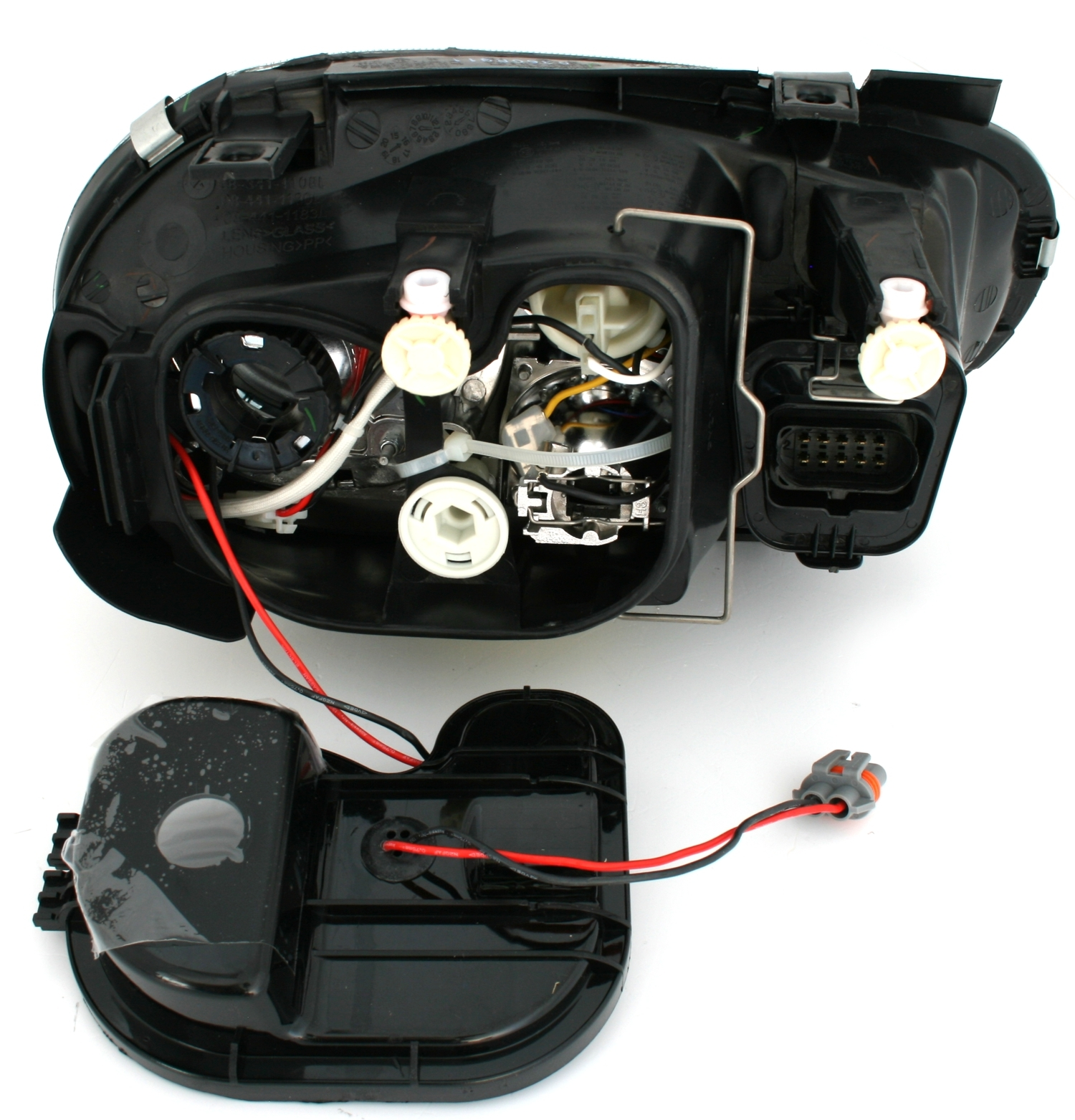 vw golf 4 xenon scheinwerfer set schwarz d2s links. Black Bedroom Furniture Sets. Home Design Ideas