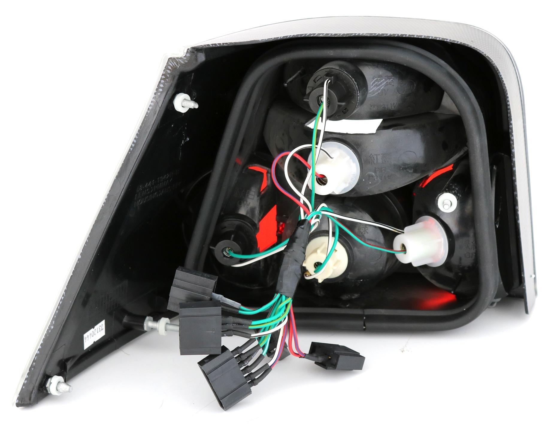 r ckleuchten set vw golf 4 limo in klarglas carbon look. Black Bedroom Furniture Sets. Home Design Ideas