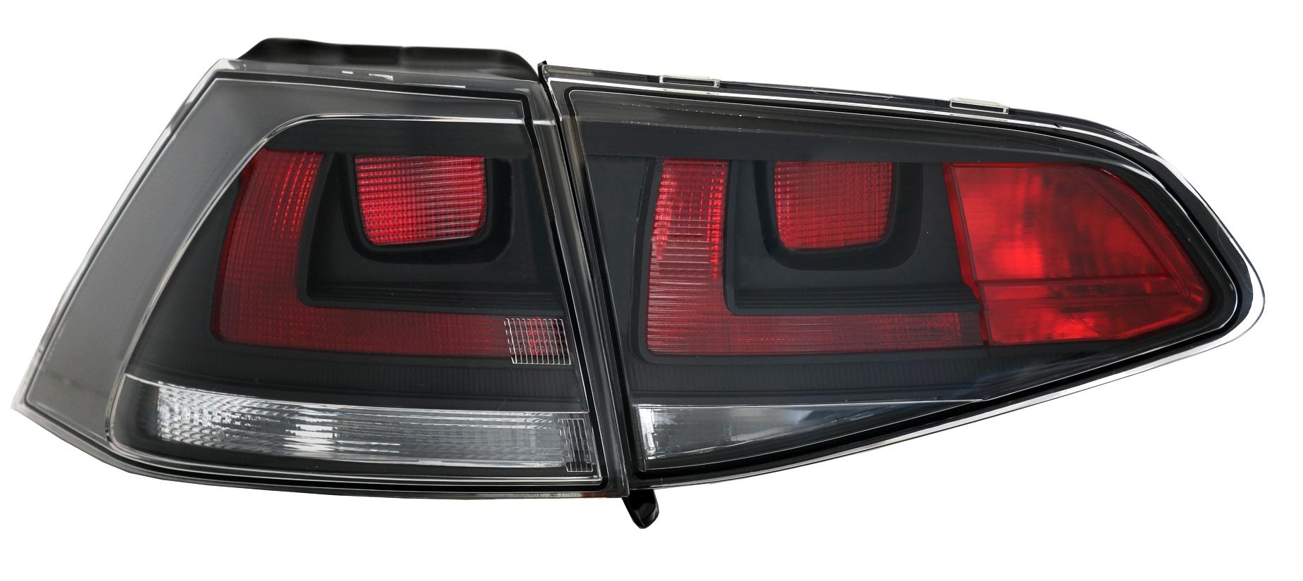 r ckleuchten set vw golf 7 5g limo in schwarz klarglas. Black Bedroom Furniture Sets. Home Design Ideas
