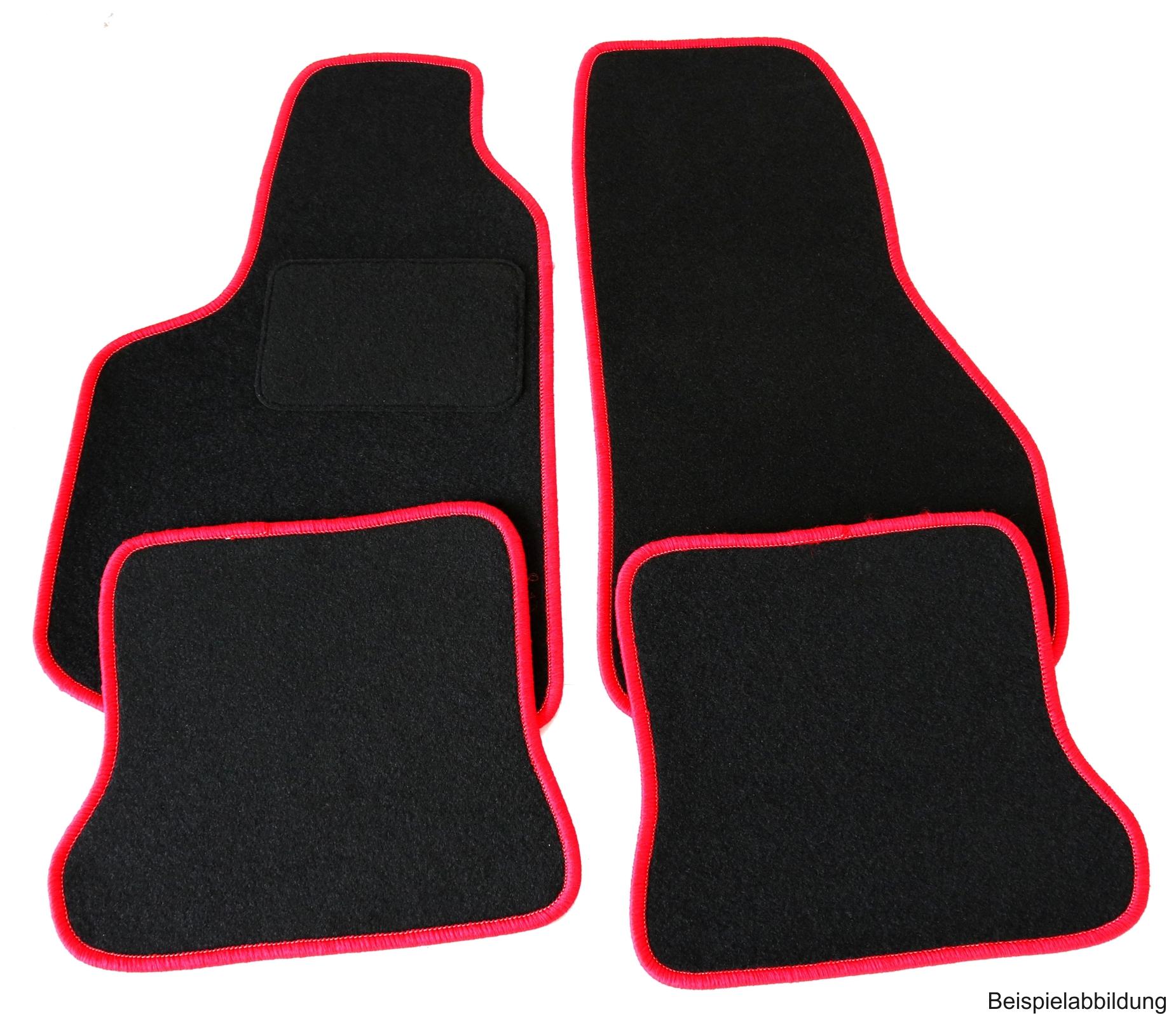 velours fu matten set f r vw golf 6 cabrio 4 teilig rand. Black Bedroom Furniture Sets. Home Design Ideas