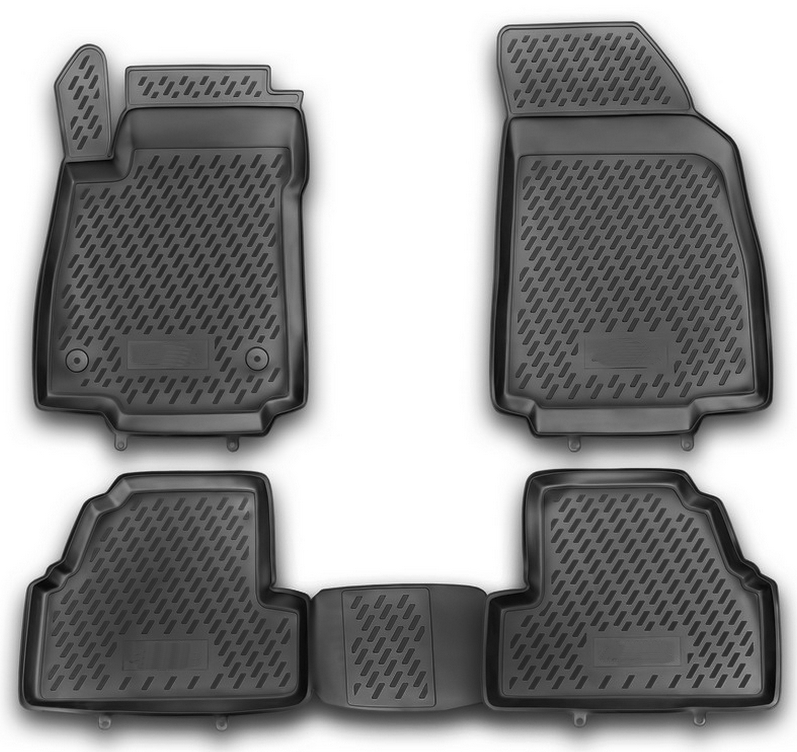 Opel Mokka 2012 Gummimatten Gummi Fußmatten 5-teilig 3D Schalen Passform