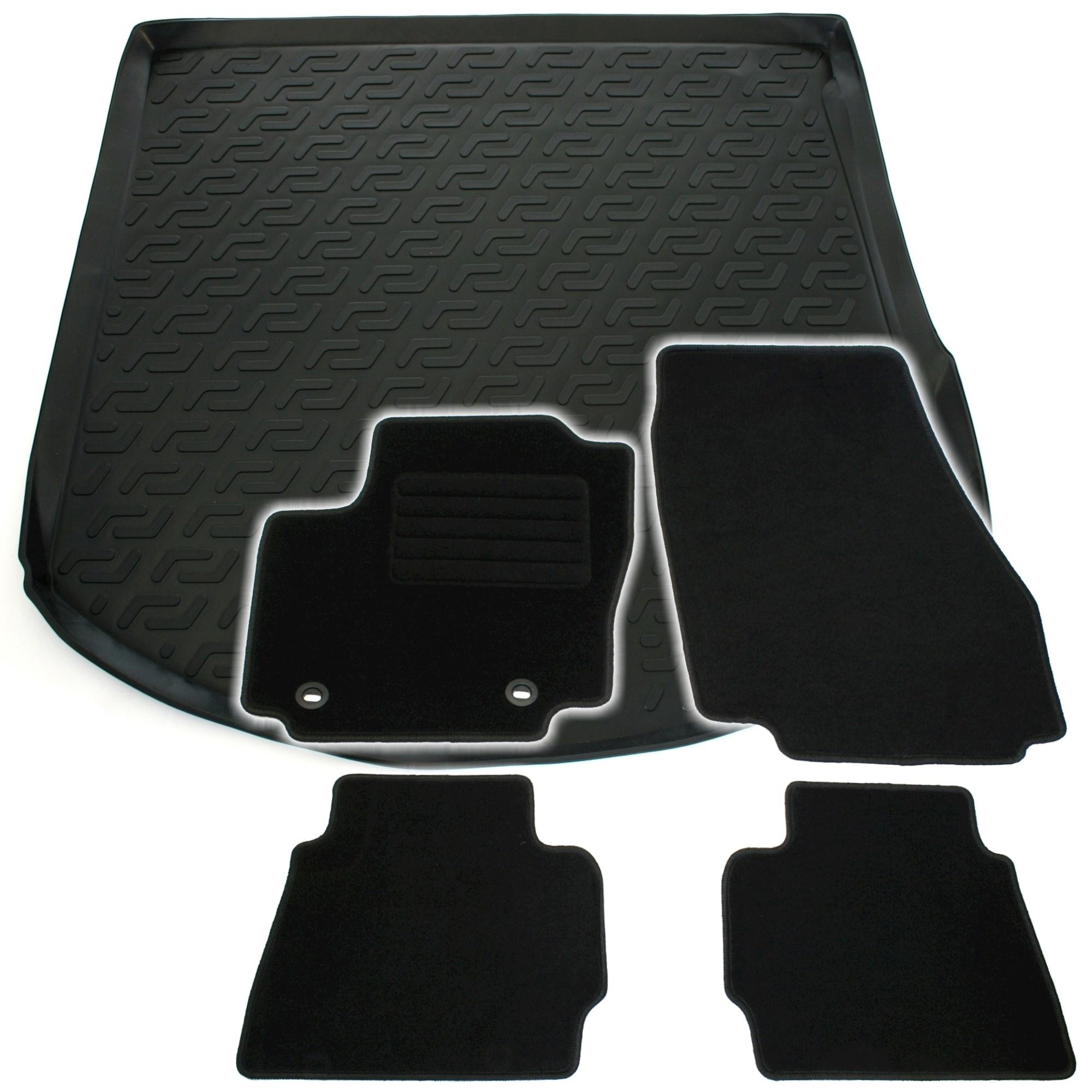 Gummi Kofferraumwanne Fußmatten Set Ford Fiesta MK7 11-15