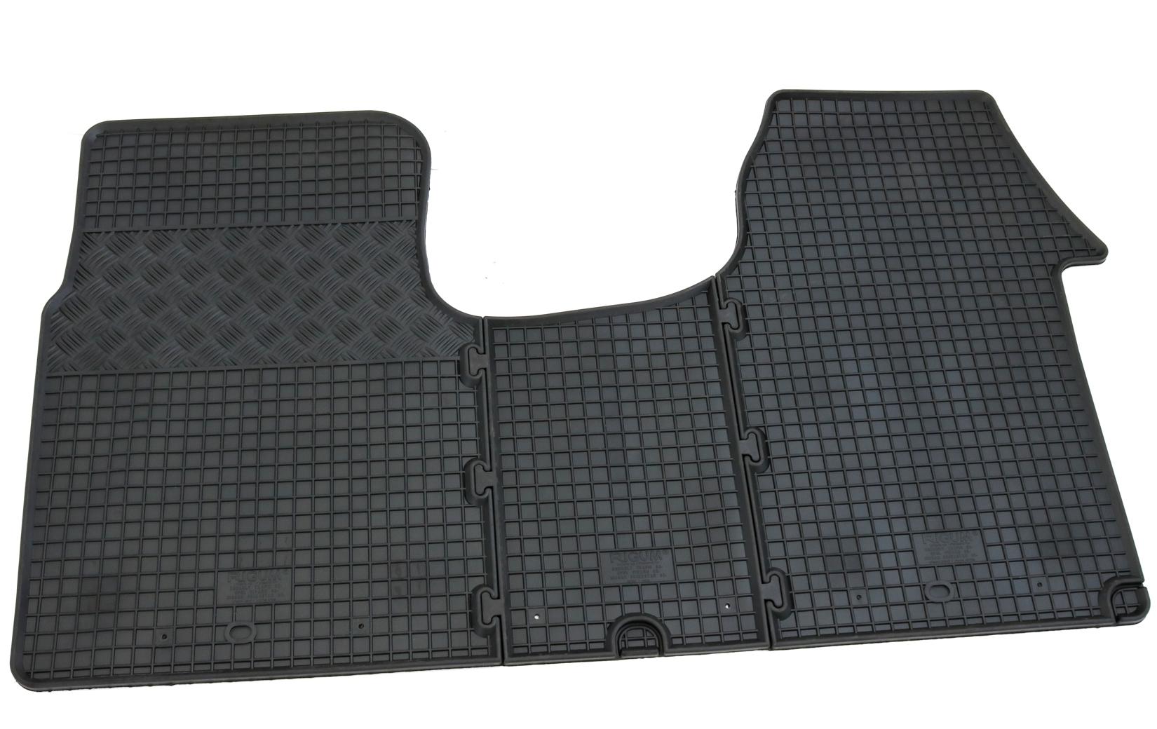 Fußmatten für Opel Vivaro ab 2014 Auto Gummi Schwarz Antirutsch Vorne Automatten