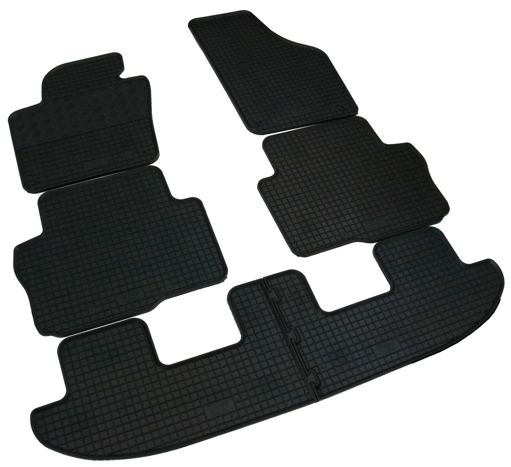 Original Lengenfelder Gummimatten für Seat Alhambra II RAND ROT Gummi Fußmatten