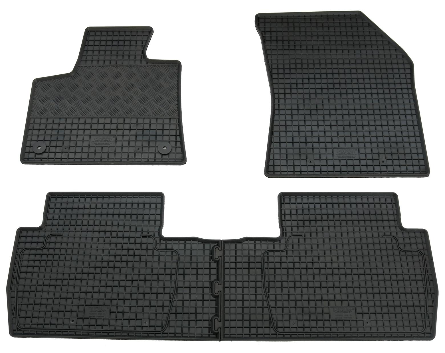 grau Fußmatten Befestigung Mercedes 4-teiliges Set Halter Automatte Gummimatte