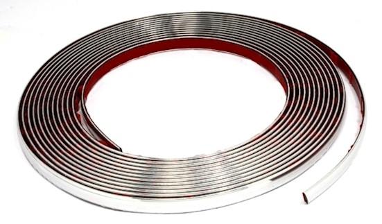 1m 0 96 chrom leisten zierleisten 8m x 5 5mm flexibel selbstklebend ebay
