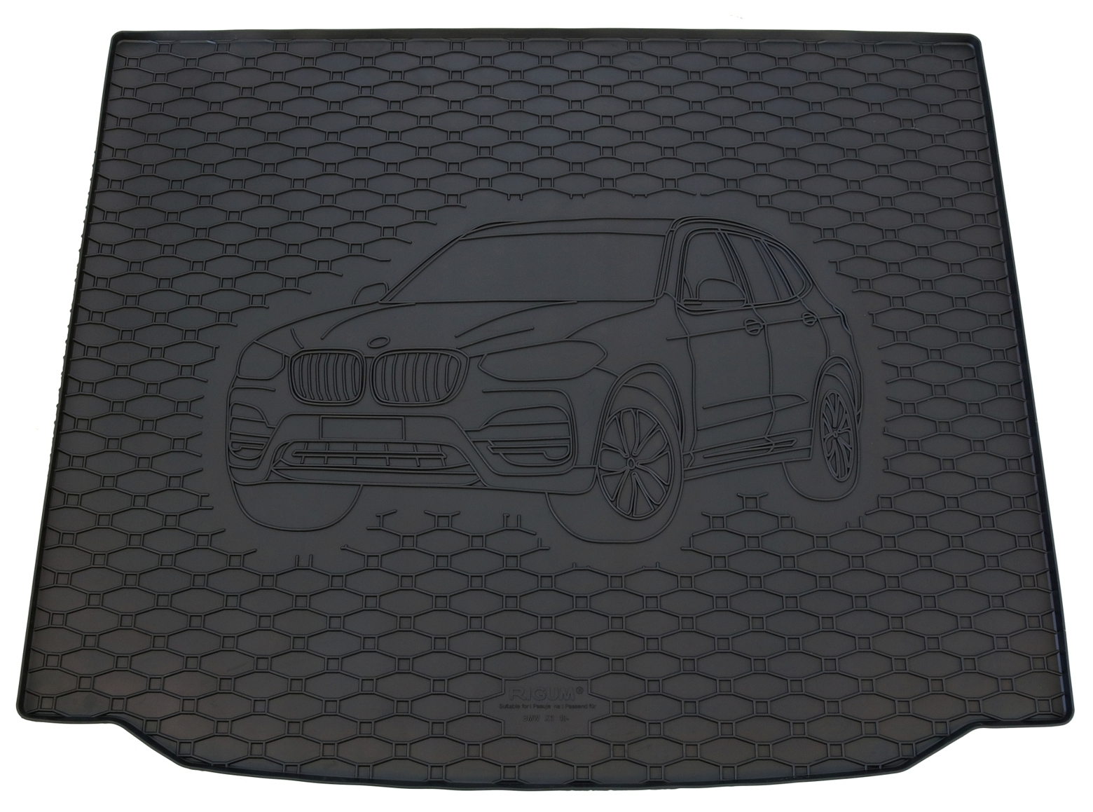 Kofferraumwanne für BMW X1 F48 2014 Laderaumwanne Gummiwanne Motiv Matte Wanne